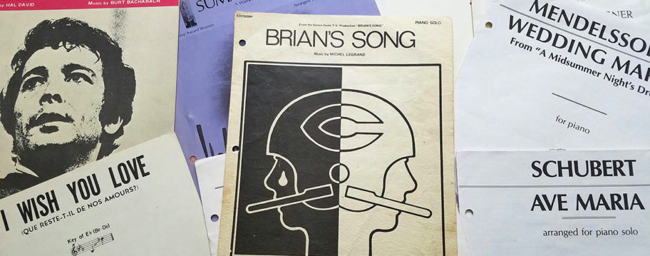 Some of Jocelyn's music, including Brian's Song.